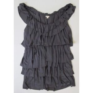 J. Crew tiered ruffle sleeveless Top Shirt XS